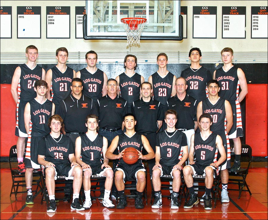 Team photo of Boys Basketball team